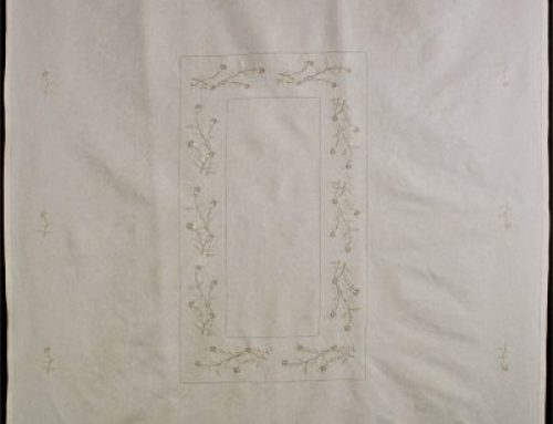 Tablecloth with embroidery